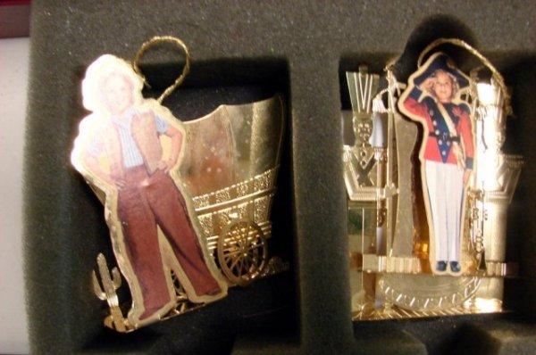 210: Danbury Mint 2001 Gold Plated Christmas Ornaments - 3