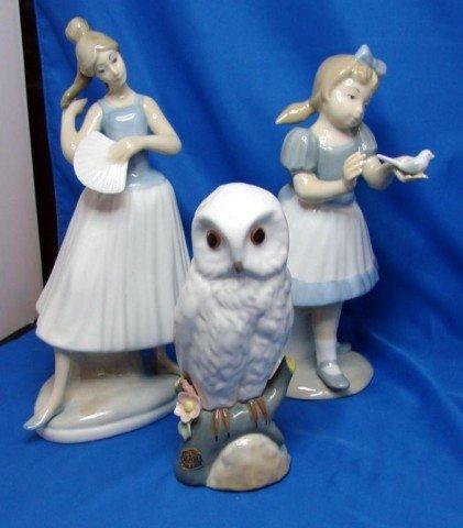 3: 3 Spanish Made Porcelain Figurines