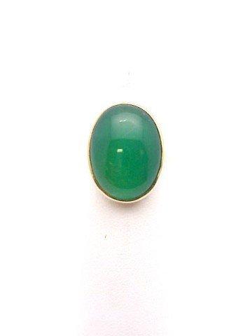 8: Lady's 14kyg jade ring 19X15mm