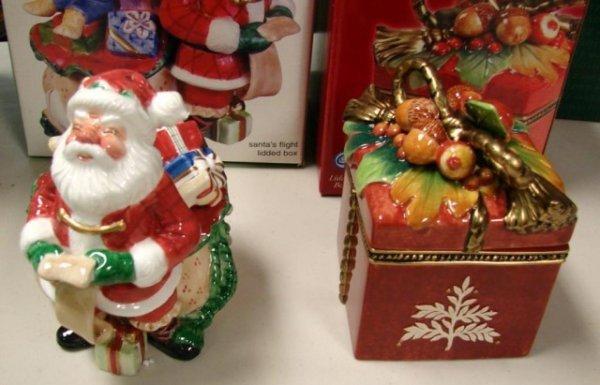 13: Fitz & Floyd Holiday Solstice & Santa's Flight