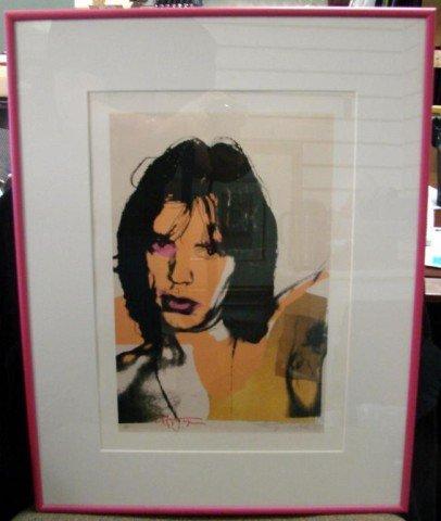 39: Framed Print of Mick Jaeger by Andy Warhol Ltd. Ed
