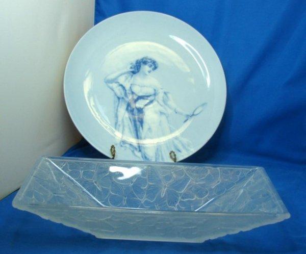 8: Crystal Butterfly  Bowl & Copenhagen Plate