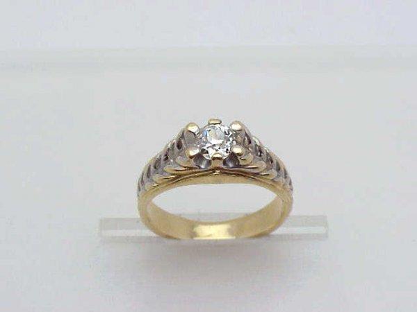 16: Lady's 14k 2 tone diamond ring .50ctw