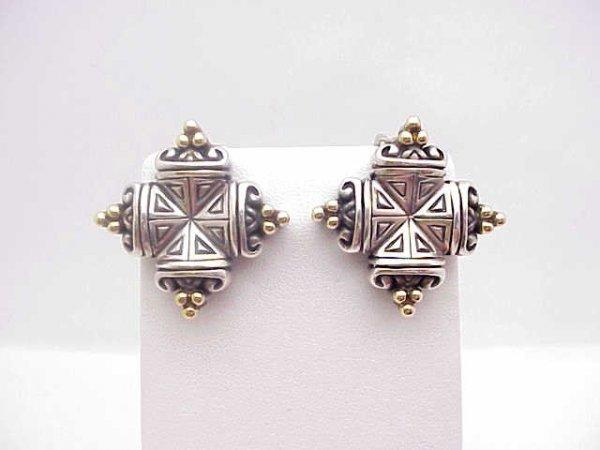 21: 18kyg/sterling Esti Frederica designer earrings