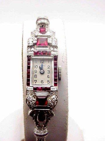 48: Lady's platinum diamond Raymond Yard watch