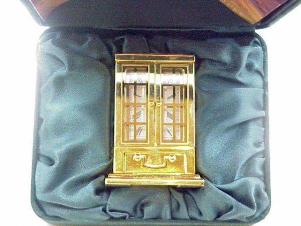 14: Bulova miniature collectable clock