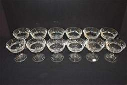 12 Waterford Lismore Crystal Sherbet Champagne