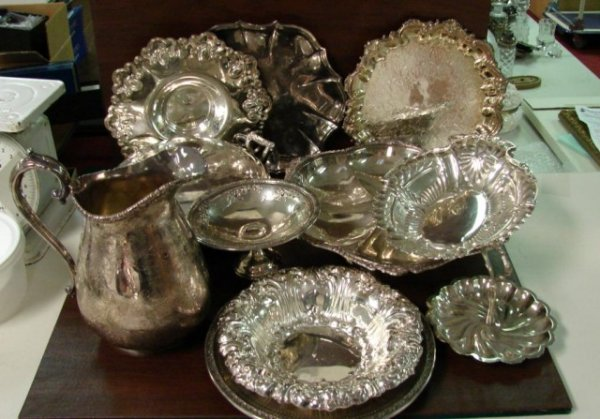 12: Lot of Silverplate incl. English Pitcher