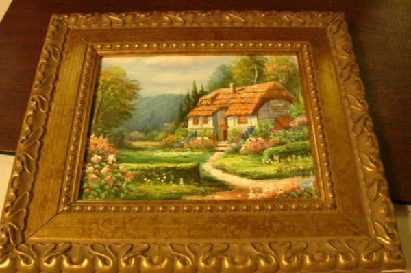 13: Gold Framed Original Oil Painting by B. Trapp