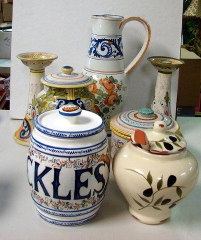 11: Lot of Italian Made Pottery incl. Deruta