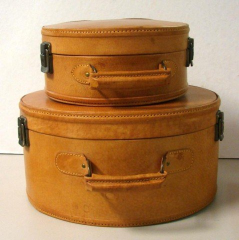 1: 2 pieces of Hat Box Luggage