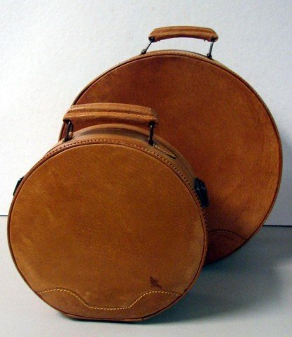 1: 2 pieces of Hat Box Luggage - 2
