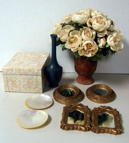 7: 4 Small Mirrors, Mother of Pearl Box ++