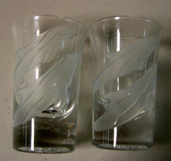 10: 2 Shot Glasses by Lucas Century Sanibel Artist