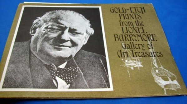 144: 6 Gold Etch Prints from Lionel Barrymore Gallery