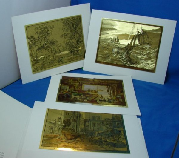 144: 6 Gold Etch Prints from Lionel Barrymore Gallery - 2