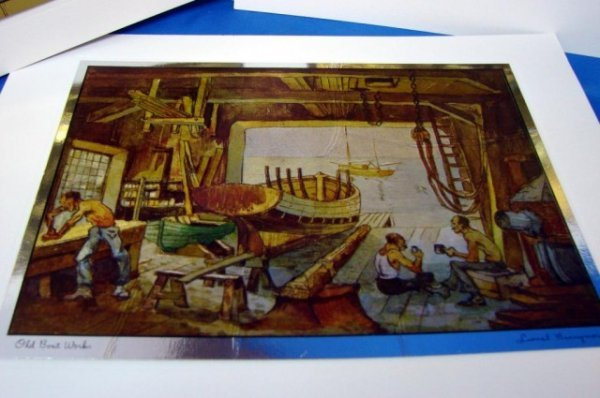 144: 6 Gold Etch Prints from Lionel Barrymore Gallery - 3