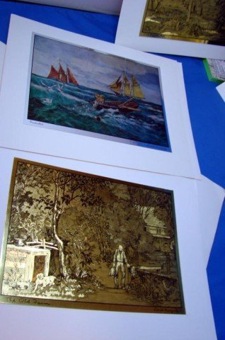 144: 6 Gold Etch Prints from Lionel Barrymore Gallery - 4