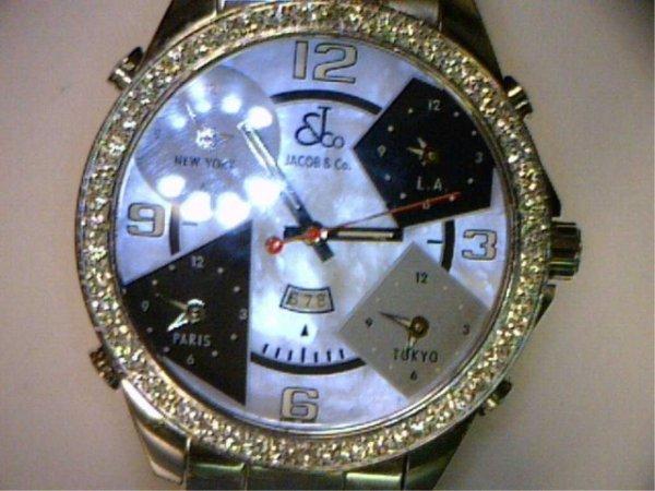 154: Jacob & Co, 5 time  zone diamond watch