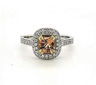 18kt white gold Imperial Topaz and diamond ring