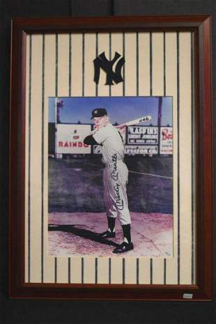 Very Rare photo of Mickey Mantle as #6