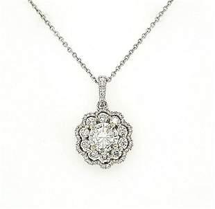14kt white gold diamond pendant