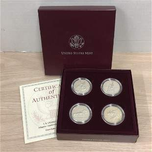 1995-1996 Olympic Clad Halves 4-Coin Proof Set