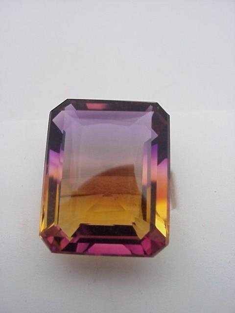 6: Loose 50ct emerald cut Ametrine