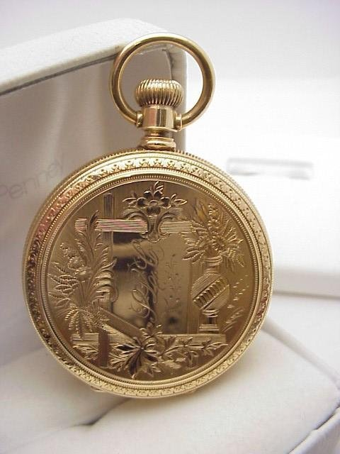 20: Man's 14kyg Elgin hunter's pocket watch