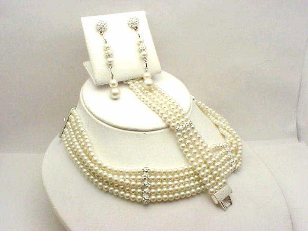 193: Lady's Givenchy pearl necklace by Swarovski