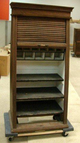 224: Antique Oak Cabinet for Railroad Ticket Sales - 2