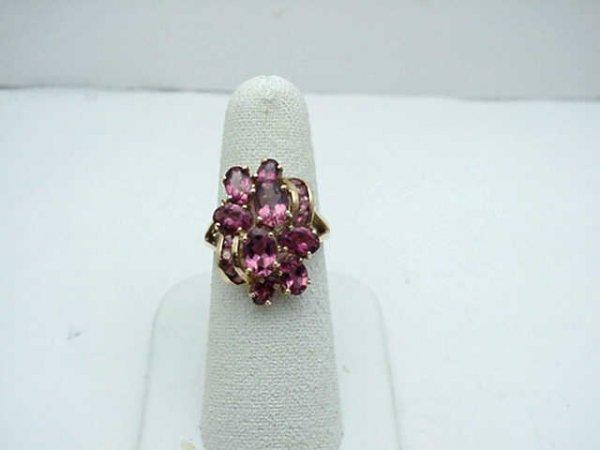 6: Lady's 14kyg pink tourmaline ring