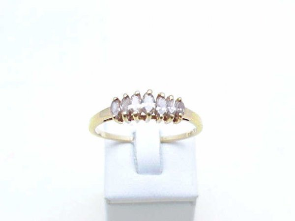 7: Lady's 14kyg marquise diamond ring