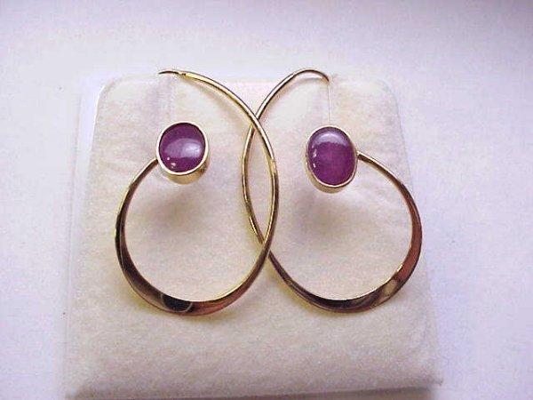 20: Lady's 14kyg contempo ruby ear hooks