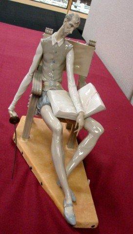 143: Lladro Don Quixote #1030 Sitting Figurine