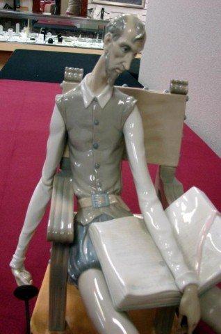 143: Lladro Don Quixote #1030 Sitting Figurine - 2