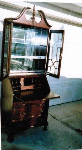 250: Cherry Wood Gov. Winthrop Secretary Desk by Jasper - 6