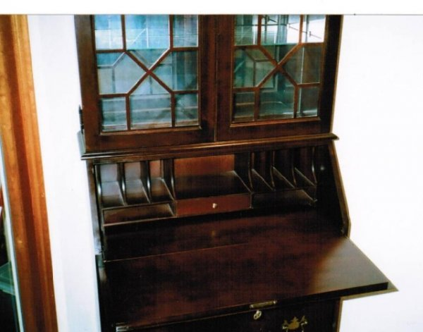 250: Cherry Wood Gov. Winthrop Secretary Desk by Jasper - 7