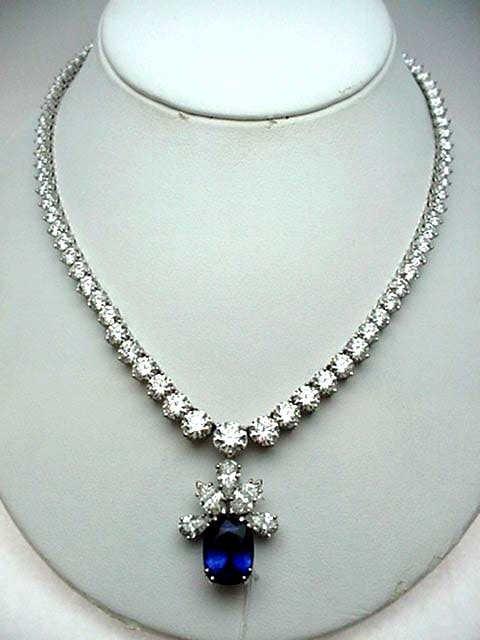 100F: Lazare Kaplan Rivera dia. necklace 33ctw platinum