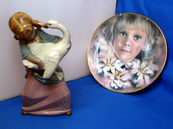 """1: Lladro Gres Girl - """"Duck Pulling Pigtail"""""""