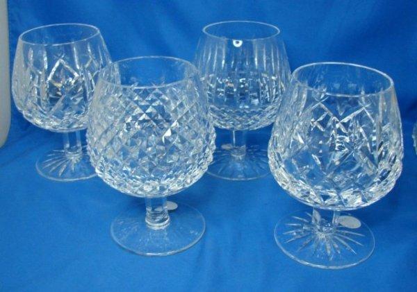 7: 4 Waterford Brandy Glasses, Alana,  Araglin & Maeve,