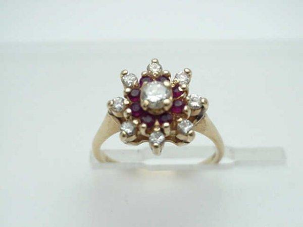11: Lady's 14kyg ruby/diamond ring