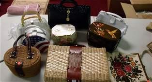 175: Vintage Purses incl. Nantucket Basket
