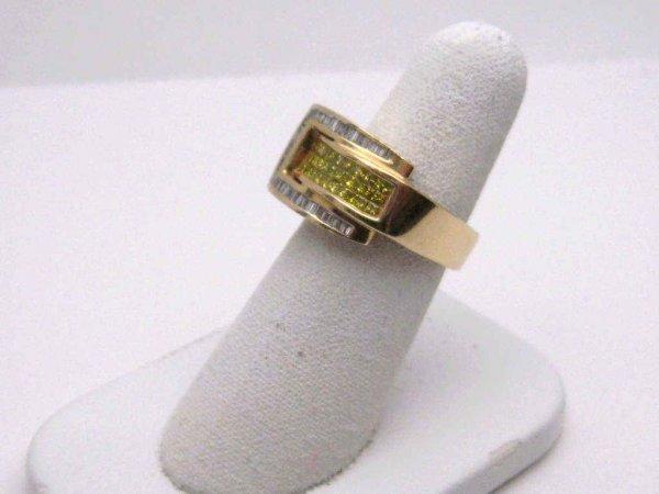 5: Lady's 14kyg fancy yellow diamond ring