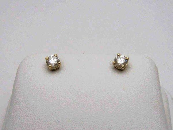 3A: 14kyg diamond stud earrings .66ctw