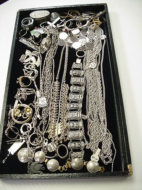 6A: Lot of assorted jewelry costume,sterling,bracelets