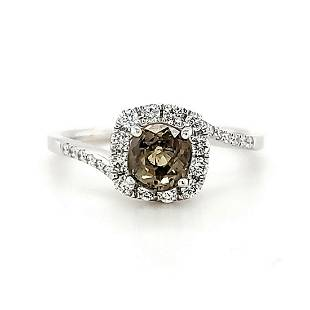 18kt white gold alexandrite and diamond ring