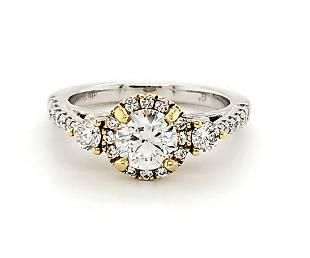 .70Ct Round Diamond Halo ring