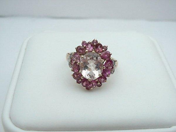 6: 14kyg lady's kunzite&pk tourmaline ring