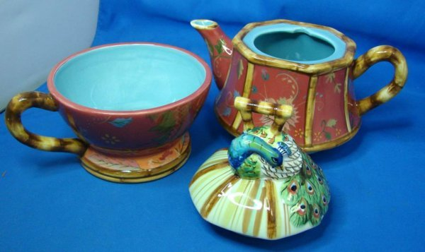 70: Tracy Porter Artesian Road Ind. Teapot & Cup - 3